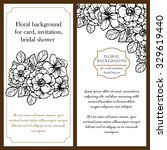 invitation card with floral...   Shutterstock . vector #329619440