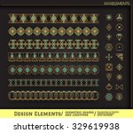 set of geometric shapes and... | Shutterstock .eps vector #329619938