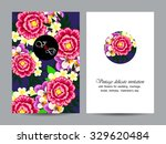 invitation card with floral... | Shutterstock .eps vector #329620484