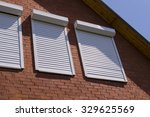 the brick wall and windows with ... | Shutterstock . vector #329625569