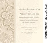 graphic wedding invitation with ... | Shutterstock .eps vector #329628560