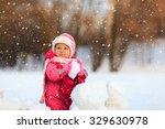 cute happy little girl play in... | Shutterstock . vector #329630978