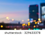 Abstract Blurred Night City...
