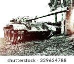 old tank | Shutterstock . vector #329634788