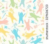 baby seamless pattern.... | Shutterstock .eps vector #329636723