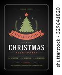 christmas party invitation... | Shutterstock .eps vector #329641820