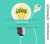 light bulb energy idea  concept. | Shutterstock .eps vector #329646224