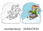 coloring book or page. vector... | Shutterstock .eps vector #329647910