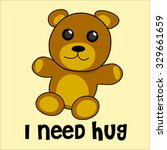 cute bear kid doll need hug | Shutterstock .eps vector #329661659