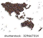 large and diverse group of... | Shutterstock . vector #329667314