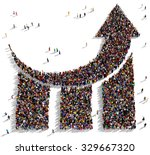 large and diverse group of... | Shutterstock . vector #329667320