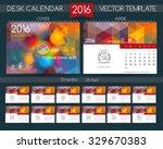 design desk calendar 2016.... | Shutterstock .eps vector #329670383
