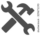 hammer and wrench vector icon.... | Shutterstock .eps vector #329671193