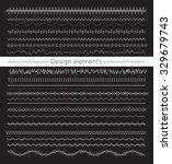 vector line border set and... | Shutterstock .eps vector #329679743