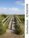A Small Wooden Bridge In The...