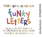 abc alphabet funky letters... | Shutterstock .eps vector #329685044