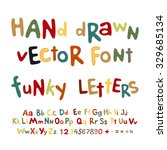 hand drawn vector alphabet. art ... | Shutterstock .eps vector #329685134