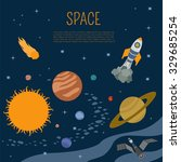 space  universe graphic design. ... | Shutterstock .eps vector #329685254