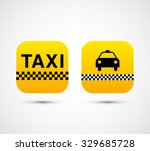 set of vector taxi app icons... | Shutterstock .eps vector #329685728