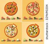 pizza menu set | Shutterstock .eps vector #329690204