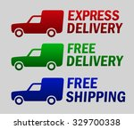 express delivery sign | Shutterstock .eps vector #329700338