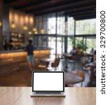 blank screen laptop computer... | Shutterstock . vector #329700800