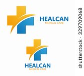 abstract medical hospital logo... | Shutterstock .eps vector #329709068