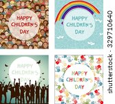 set of four images for... | Shutterstock .eps vector #329710640