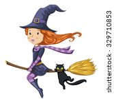 cartoon witch | Shutterstock .eps vector #329710853
