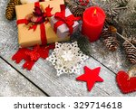 christmas decoration over... | Shutterstock . vector #329714618