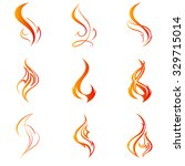 fire flames. collage. | Shutterstock .eps vector #329715014