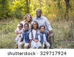 beautiful multi ethnic family... | Shutterstock . vector #329717924