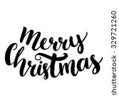 merry christmas text. brush... | Shutterstock .eps vector #329721260