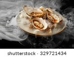 Small photo of Fine dinning oysters plate in modern style