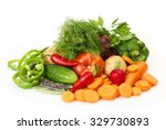 fresh vegetables for a healthy... | Shutterstock . vector #329730893