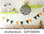 halloween decoration on the... | Shutterstock . vector #329738300
