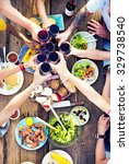 food table celebration... | Shutterstock . vector #329738540