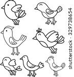 Bird Doodle Cartoon Collection