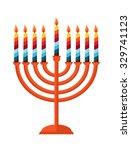Happy Hanukkah  Jewish Holiday. ...