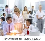 corporate collaboration... | Shutterstock . vector #329741210