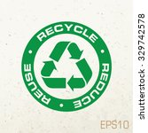 recycle symbol or emblem on...   Shutterstock .eps vector #329742578