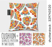 design cushion  pillow  vector... | Shutterstock .eps vector #329743520