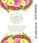 vintage delicate invitation... | Shutterstock . vector #329749454