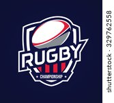 rugby logo  american logo sport | Shutterstock .eps vector #329762558