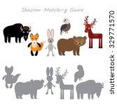 bison fox hare rabbit eagle... | Shutterstock .eps vector #329771570