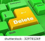 computer keyboard with  key... | Shutterstock . vector #329781269