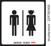 bathroom sign | Shutterstock .eps vector #329782400