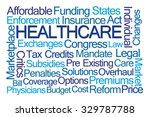 healthcare word cloud on white... | Shutterstock . vector #329787788
