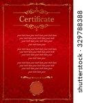 retro frame certificate... | Shutterstock .eps vector #329788388