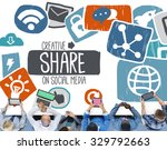 creative share social media... | Shutterstock . vector #329792663